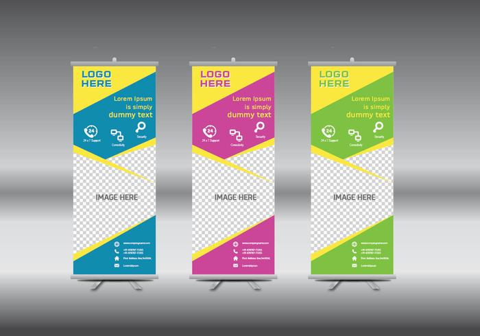roll-up-banner-template-vector-illustration